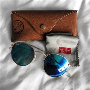 Ray-Ban Accessories - Ray Ban | blue polarized gold frames